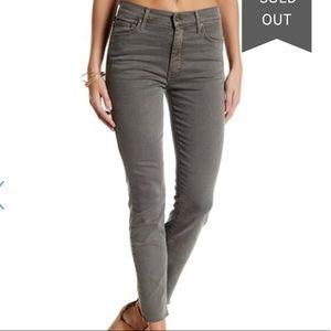 Mother frayed hem jeans
